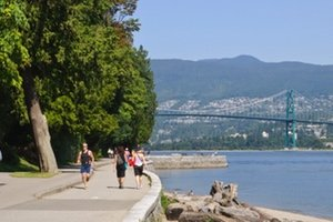 Walking along Vancouver's Seawall