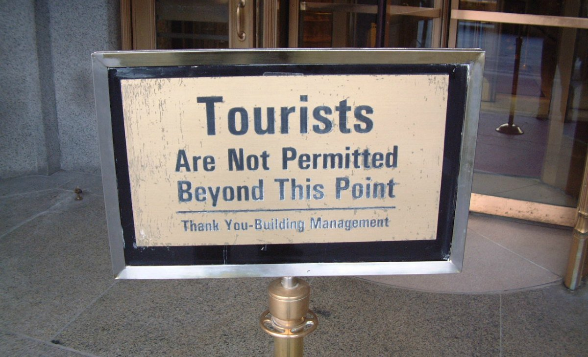 Tourists not permitted