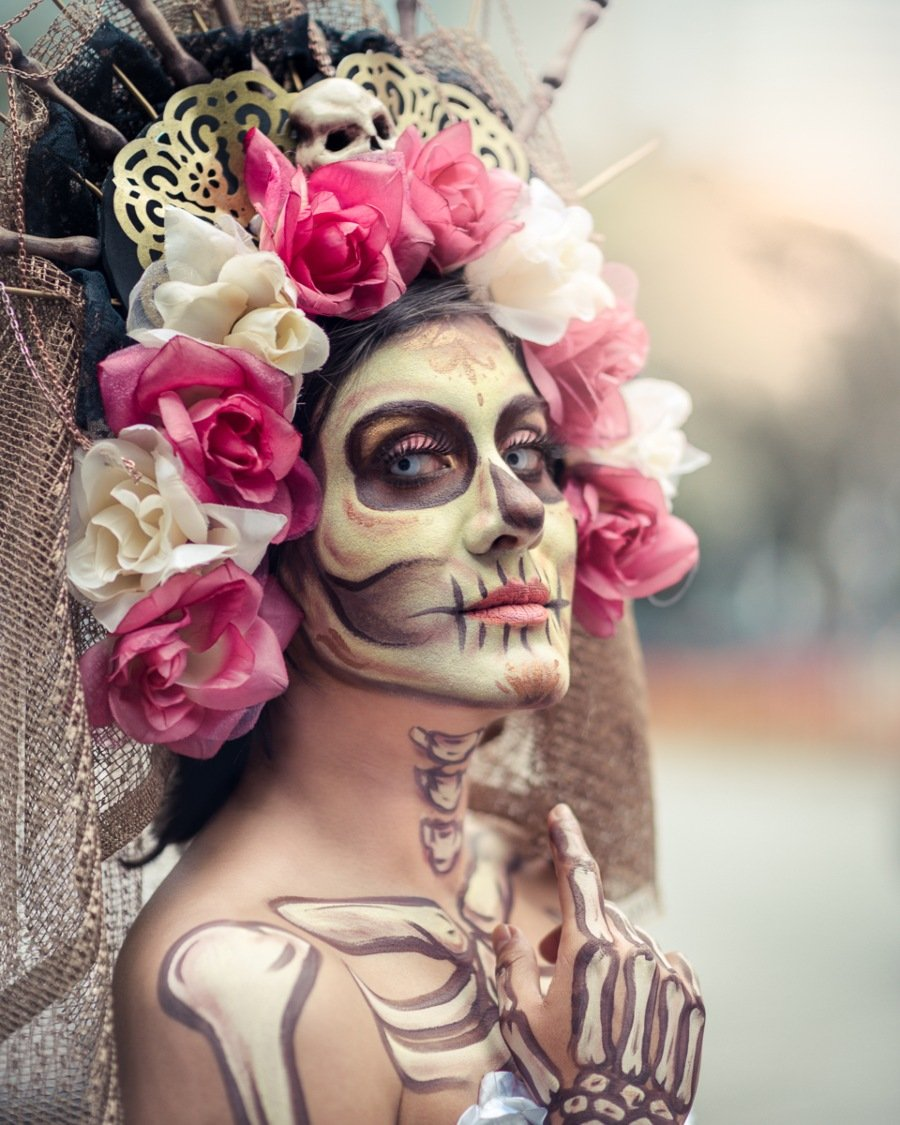 Stunning Day of the Dead makeup